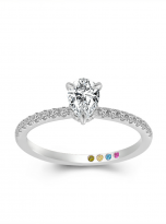 1ct Pear Cut Pave Setting Moissainte Engagement Ring (1)
