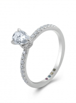 1ct Pear Cut Pave Setting Moissainte Engagement Ring (2)