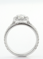 1ct Round Moissanite in Cushion Halo Engagement ring set (4)