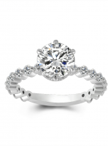 2ct Round 6-Prong Hidden Halo Moissanite Engagement Ring (1)