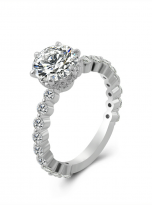 2ct Round 6-Prong Hidden Halo Moissanite Engagement Ring (2)