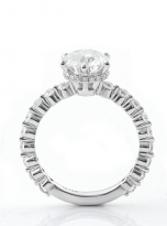 2ct Round 6-Prong Hidden Halo Moissanite Engagement Ring (3)