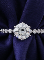 2ct Round 6-Prong Hidden Halo Moissanite Engagement Ring (6)