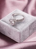 2ct Round Moissanite Twisted Cathedral Halo Engagement Ring (11)