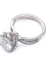 2ct Round Moissanite Twisted Cathedral Halo Engagement Ring (5)