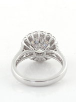 3ct Contemporary Moissanite Halo Engagement Ring (3)