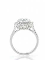 3ct Contemporary Moissanite Halo Engagement Ring (4)