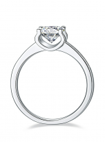 4 claw round shaped moissanite solitaire ring (3)