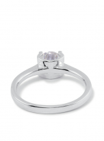 4 claw round shaped moissanite solitaire ring (4)