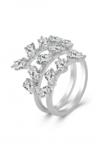 4.5ct Lovely leaves with moissanite twist ring (1)