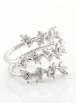 4.5ct Lovely leaves with moissanite twist ring (3)