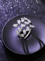 4.5ct Lovely leaves with moissanite twist ring (8)