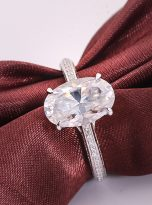 4.5ct Oval Pave Style Moissanite Engagement Ring (10)