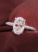 4.5ct Oval Pave Style Moissanite Engagement Ring (11)