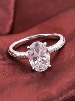 4.5ct Oval Pave Style Moissanite Engagement Ring (12)