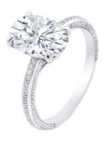4.5ct Oval Pave Style Moissanite Engagement Ring (2)