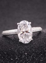 4.5ct Oval Pave Style Moissanite Engagement Ring (6)