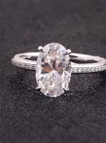 4.5ct Oval Pave Style Moissanite Engagement Ring (7)