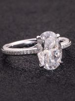 4.5ct Oval Pave Style Moissanite Engagement Ring (8)