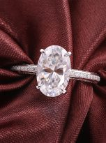 4.5ct Oval Pave Style Moissanite Engagement Ring (9)