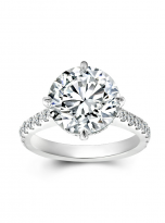 5ct Brilliant Round Pave Style Moissanite Engagement Ring (1)