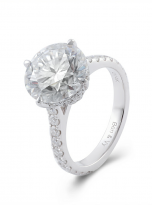 5ct Brilliant Round Pave Style Moissanite Engagement Ring (2)