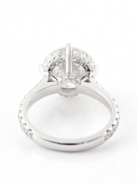 5ct Brilliant Round Pave Style Moissanite Engagement Ring (4)
