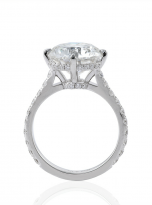 5ct Brilliant Round Pave Style Moissanite Engagement Ring (5)