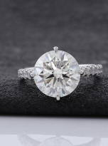5ct Brilliant Round Pave Style Moissanite Engagement Ring (6)