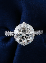 5ct Brilliant Round Pave Style Moissanite Engagement Ring (7)