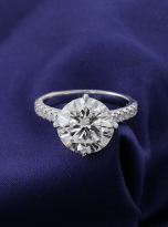5ct Brilliant Round Pave Style Moissanite Engagement Ring (8)