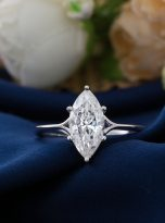 6-Prong 2ct Fancy Marquise Moissanite Solitaire Ring (11)
