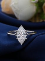 6-Prong 2ct Fancy Marquise Moissanite Solitaire Ring (12)
