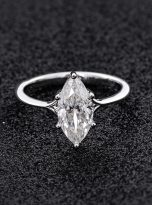 6-Prong 2ct Fancy Marquise Moissanite Solitaire Ring (8)