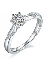 6 claw moissanite flower style solitaire ring (2)