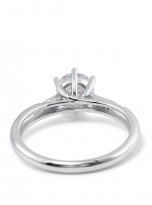 6 claw moissanite flower style solitaire ring (4)