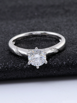 6 claw moissanite flower style solitaire ring (6)