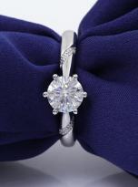 6 claw moissanite flower style solitaire ring (8)