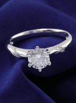 6 claw moissanite flower style solitaire ring (9)