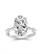 6ct Hidden Halo Oval Moissanite Engagement ring (1)