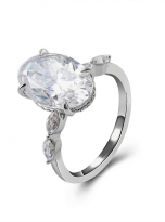 6ct Hidden Halo Oval Moissanite Engagement ring (2)