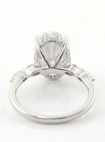 6ct Hidden Halo Oval Moissanite Engagement ring (3)