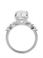 6ct Hidden Halo Oval Moissanite Engagement ring (4)