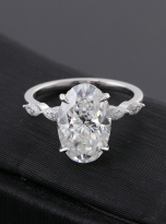 6ct Hidden Halo Oval Moissanite Engagement ring (5)