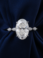 6ct Hidden Halo Oval Moissanite Engagement ring (6)