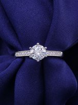 A simple and dainty round solitaire festuring six prongs (8)