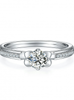 Classic 4 claw moissanite solitaire ring (1)