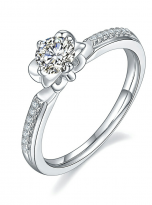 Classic 4 claw moissanite solitaire ring (2)