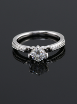 Classic 4 claw moissanite solitaire ring (5)