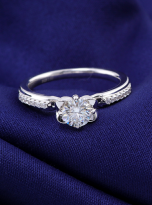 Classic 4 claw moissanite solitaire ring (6)
